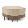 "Classic Veranda Round Patio Table & Chair Cover - Large 94""D"