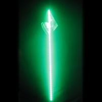 4' LED Safeglo Lighted Whip w Flag - GREEN - FREE SHIPPING