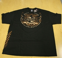"Tapout Tap Out Mens Black Tee Shirt ""Phoenix Rising"""
