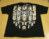 "Tapout Tap Out Mens Black Tee Shirt ""Peace Be With You"""