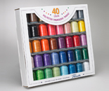 40-Piece Embroidery Thread Set, Polyester (Brother # SA740)