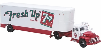 "Diamond T 620 with Trailer, ""Fresh Up with 7 Up"" - Corgi US52913 - click to enlarge"