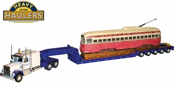 Kenworth W925 with Trailer & PCC Streetcar - Corgi US24903 - click to enlarge
