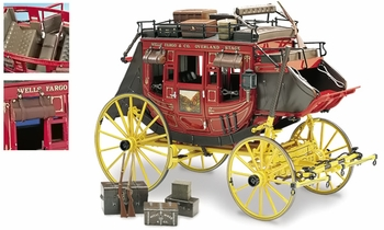 Wells Fargo Overland Stagecoach Model - Franklin Mint 1:16 Diecast - click to enlarge