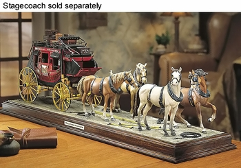 Wells Fargo 4-Horse Team with Display Base - Franklin Mint R21TY89 - click to enlarge