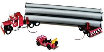 Kenworth W925 with Trailer, Pipe Load & Jeep Model - Corgi US55704 - click to enlarge