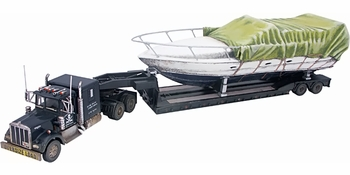 Kenworth W925 with Lowboy Trailer and Boat Model - Corgi US55709 - click to enlarge