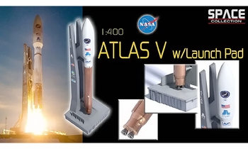 Atlas V Rocket Model w/ Launch Pad, X-37B - Dragon Wings 56246 - click to enlarge