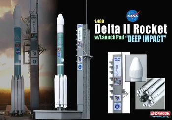 "Delta II Rocket Model, NASA, ""Deep Impact"" - Dragon Wings 56243 - click to enlarge"