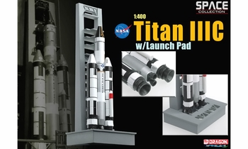 Titan IIIC Rocket Model w/ Launch Pad, USAF - Dragon Wings 56228 - click to enlarge