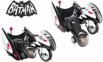 Batman 1966 TV Series Batcycle 1:12 Diecast Model - Hot Wheels - click to enlarge