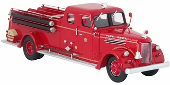 Peter Pirsch Canopy Cab Pumper, Milwaukee Fire Dept - Corgi US53606 - click to enlarge