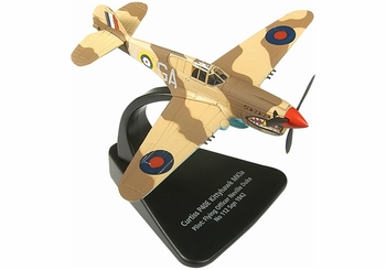 P-40 Kittyhawk Model, RAF, Neville Duke - Oxford Diecast AC009 - click to enlarge