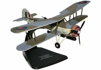Fairey Swordfish Model, Royal Navy, 821 Sqn - Oxford Diecast AC025 - click to enlarge