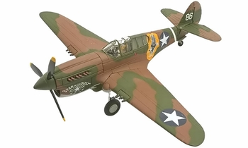 P-40E Warhawk Model, USAAF, 9th FS 49 FG - Corgi AA35203 - click to enlarge