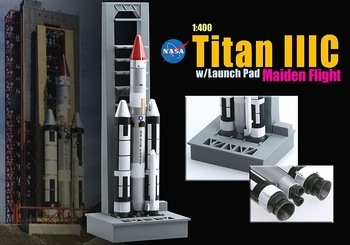 Titan IIIC Rocket Model, USAF, Maiden Flight - Dragon Wings 56341 - click to enlarge