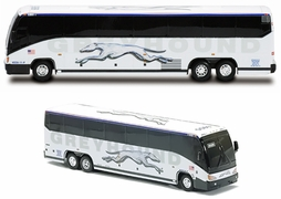 MCI E4500 Bus Diecast Model, Greyhound (shadow) - Tonkin Replicas - click to enlarge