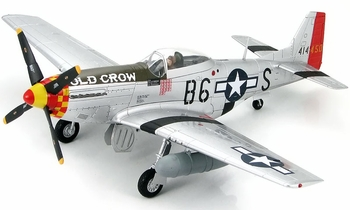 "P-51D Mustang Model, ""Old Crow"" (Signed) - Hobby Master HA7712A - click to enlarge"