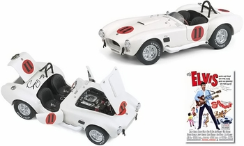 SPINOUT Elvis Presley 1965 Shelby Cobra 1:24 Diecast - Franklin Mint - click to enlarge