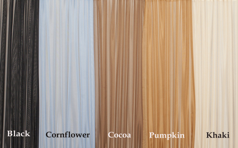 & French Door Curtain Multi Color Sheers (Door Curtains)