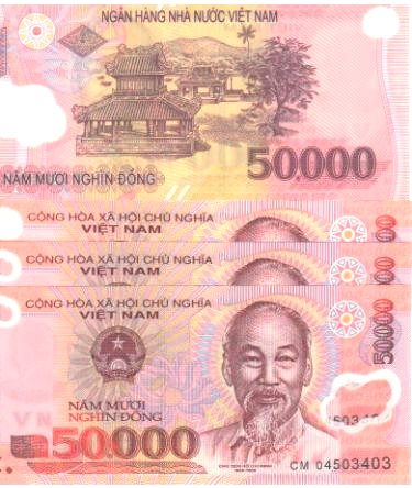 NEW VIETNAM 20 x 50000 = 1M DONG POLYMER VIETNAMESE CURRENCY-UNC!
