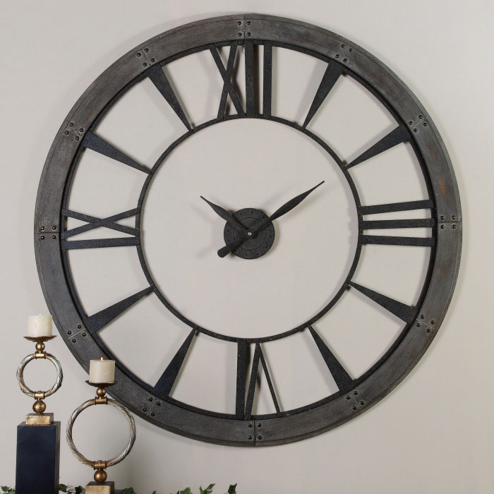 Ronan Wall Clock 60 by Uttermost 500 and Up