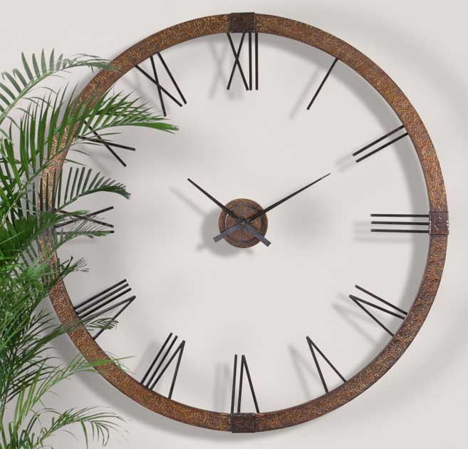 Amarion Wall Clock 60 by Uttermost Open Face Wall Clocks