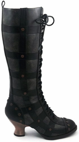 """2 1/2"""" Knee High Boot With Vintage Style Lacing * DOME"""