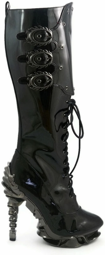 "5"" Knee High Boots With Inner Zipper * HYPERION"