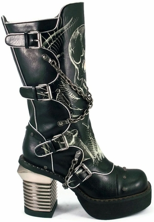 "3 1/2"" Knee High Punk Boots * SPAWN"