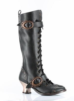 """2 1/2"""" Knee High Boot With Retro Style Lacing * VINTAGE"""
