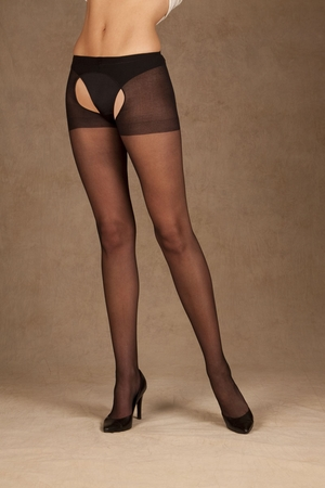 Sheer Crotchless Pantyhose * 1726Q
