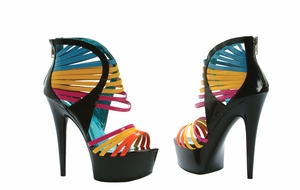 "6"" Platform Multi Color Straps  * 609-SUNKISS"