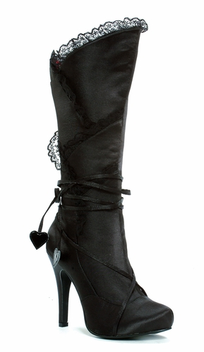 "4"" Satin Knee High Boot  * 400-GOTHIKA"