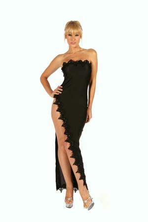 Beaded Lace Gown * 5501