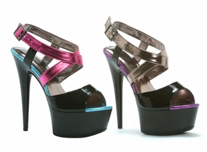 "6"" Peep Toe Platform  * 609-PAPAYA"