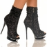 "5 1/2"" Sequin Boot * DIAMOND-31"