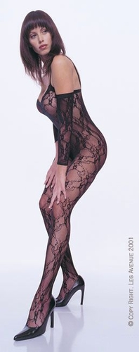 Flower Lace Body Stocking With Sleeves * 8046