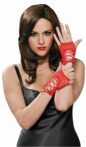 Red Fingerless Gloves * 9128