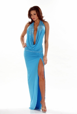 Stretch Rhinestones Gown * 4407