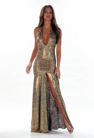 Stretch Hologram Gown * 4417