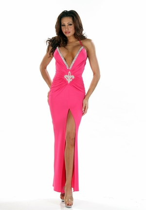 Stretch Beaded Gown * 4447