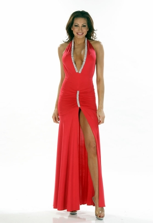 Stretch Beaded Gown * 4451