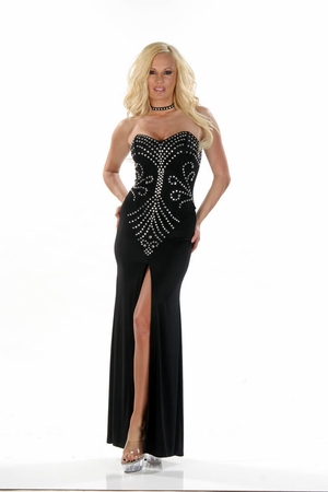 Stretch Ottoman Gown * 4476