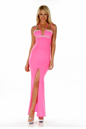 Glazed Poly Lycra Gown * 4544
