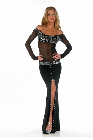 Glazed Poly Lycra Gown * 4545