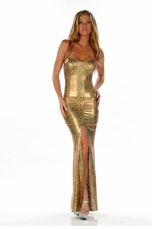 Stretch Metallic Gown * 4553