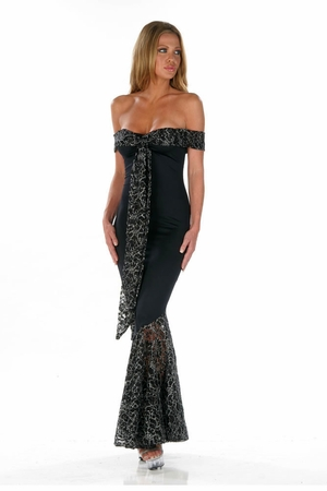 Stretch Micro Lace Gown * 4561