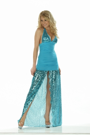 Lycra/Sequin Gown * 4807