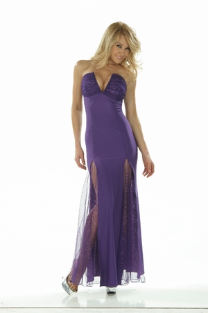 Lycra/Sparkle Net Gown * 4827
